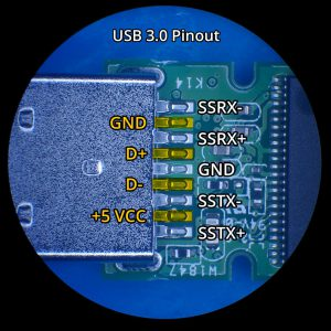 USB 3.0 Flashdrive Connector Pinout