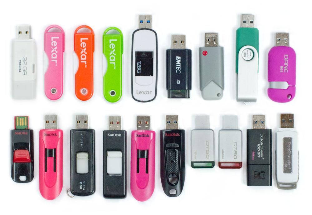 Examples of conventional flash drives